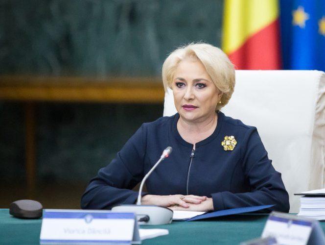 Premierul României, Viorica Dăncilă, în timpul unui discurs în cadrul şedinţei de Guvern