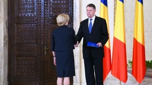 Viorica Dăncilă alături de Klaus Iohannis