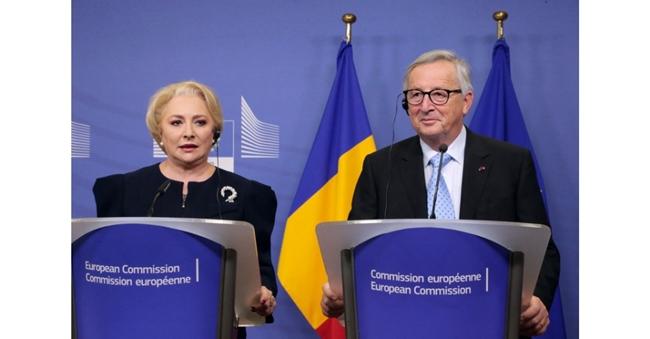 Jean Claude Juncker și Viorica Dăncilă