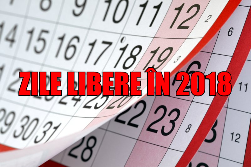 Care sunt zilele libere din decembrie 2018 și ianuarie 2019