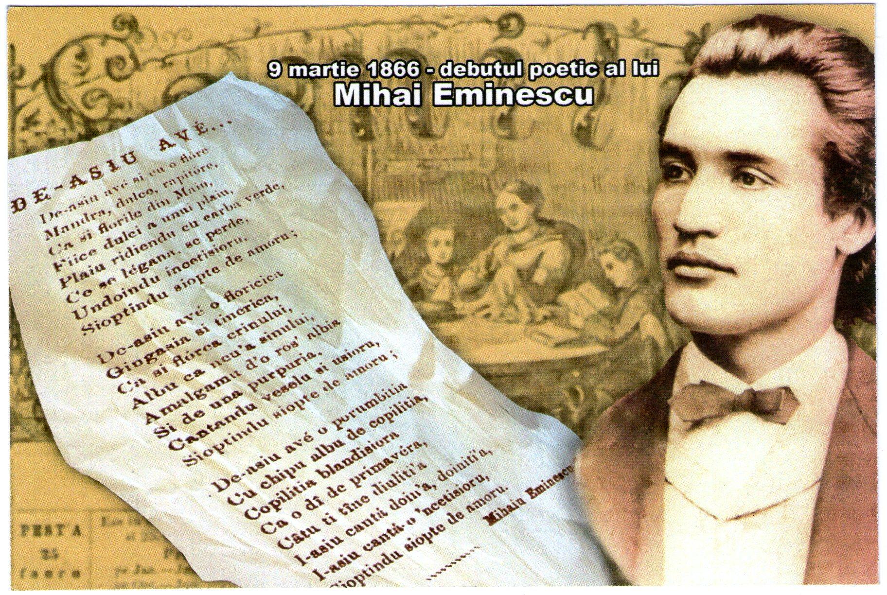 Mihai Eminescu, poetul nepereche al neamului românesc, ne-a lăst moștenire o operă de o valoare, vastitate, profunzime inestimabile. Suntem datori să o cunoaștem!