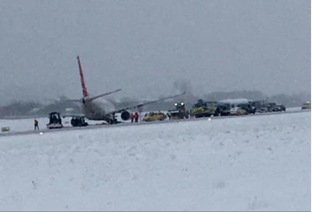 Incident aviativ! O aeronavă a ieșit de pe pistă pe un aeroport din Ucraina
