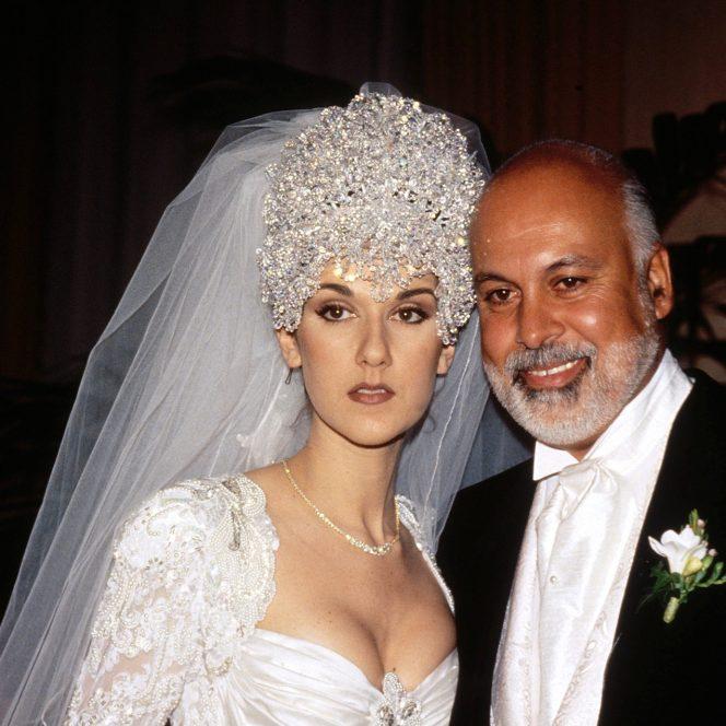 Celine Dion alături de soțul acesteia, în tinerețe