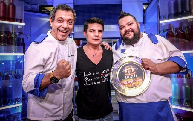Chef Sorin Bontea, Silviu Nedelea și câștigătorul sezonulu i6 al Chefi la cuțite, Mihai Munteanu