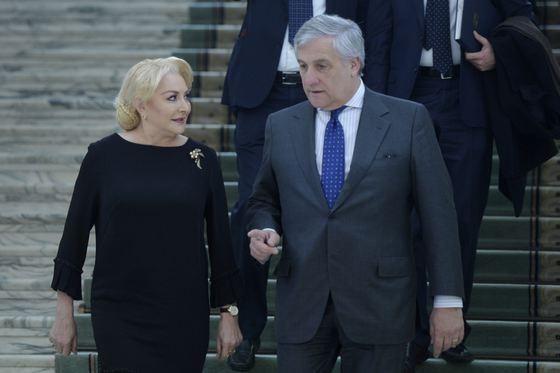 Viorica Dăncilă și Antonio Tajani