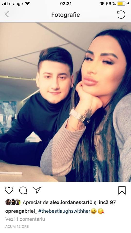 Daniela Crudu alături de noul iubit, Gabi Oprea