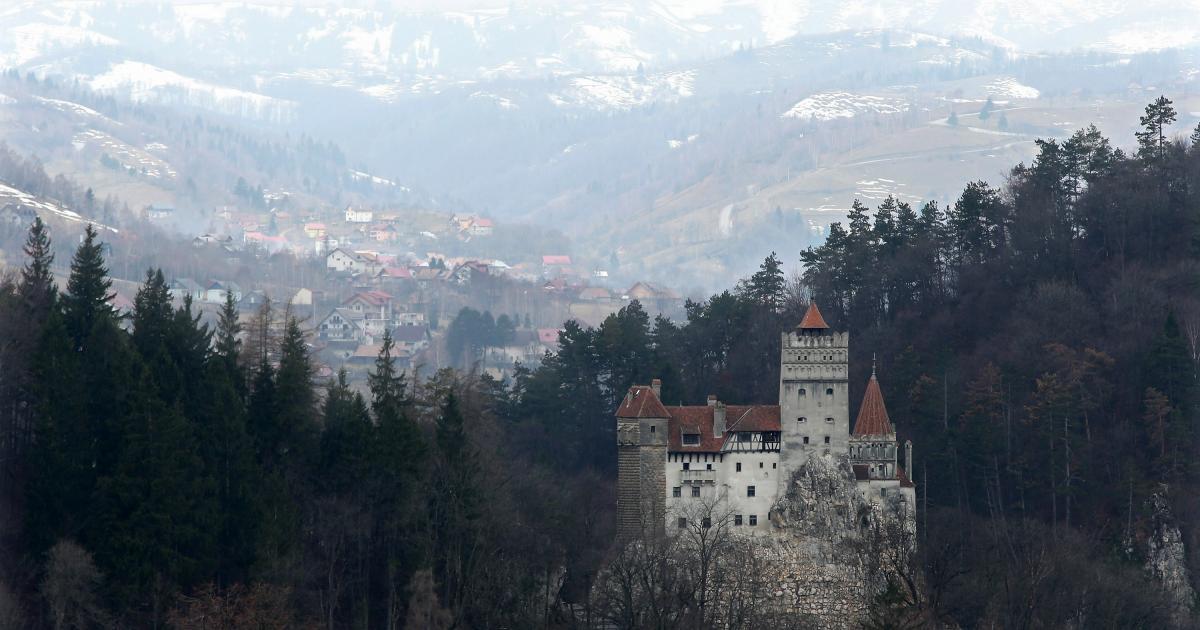 Superbă fotografie a Castelului Bran, proprietatea Elisabetei Sandhofer, care a încetat din viaţă