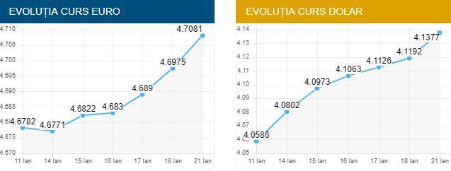 Fluctuația Euro - Dolar