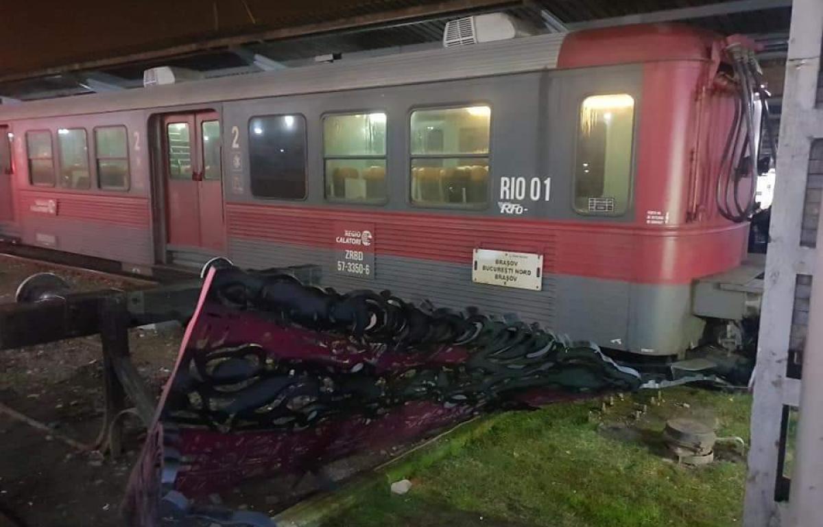 Fotografie de la incidentul petrecut în Gara de Nord, din Bucureşti