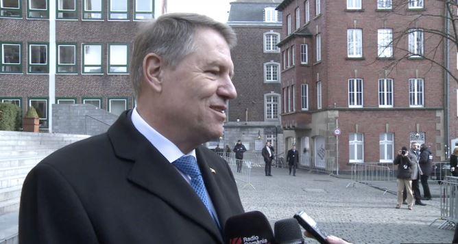 Klaus Iohannis a participat la reuniunea de la Aachen