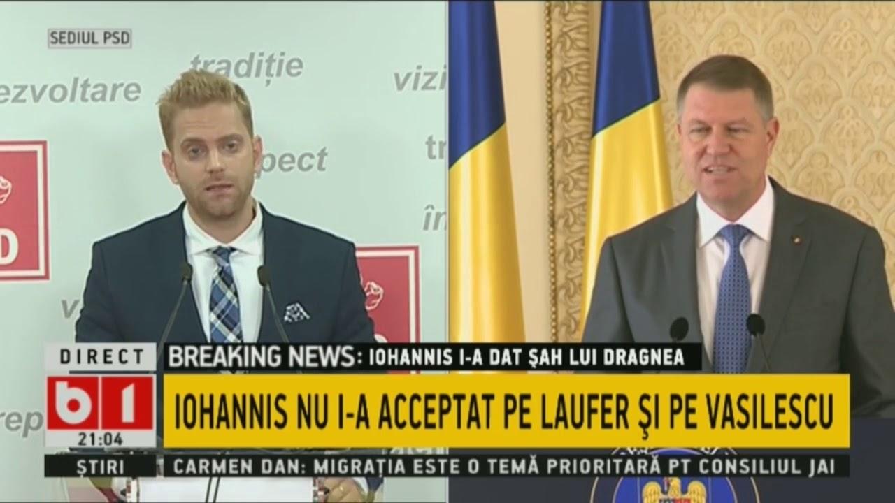 Ilan Laufer și Klaus Iohannis