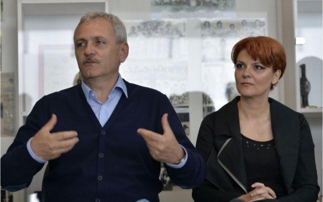 Liviu Dragnea și Lia Olguța Vasilescu