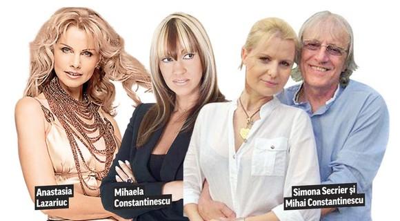 Mihai Constantinescu a avut 3 mari iubiri în viața sa: prima soție, Mihaela, moldoveanca Anastasia și actuala soție, Simona. Pe lângă zecile de cuceriri ocazionale...