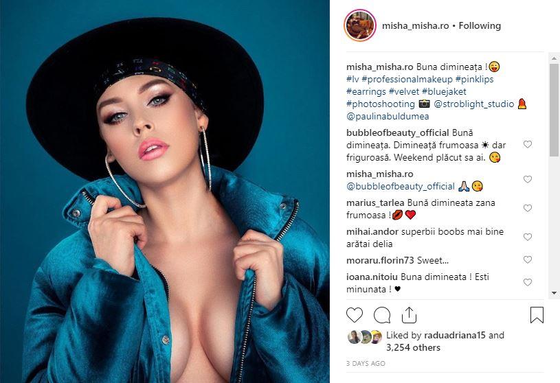 Postarea făcută de Misha care a stârnit furori în mediul virtual printre fanii artistei