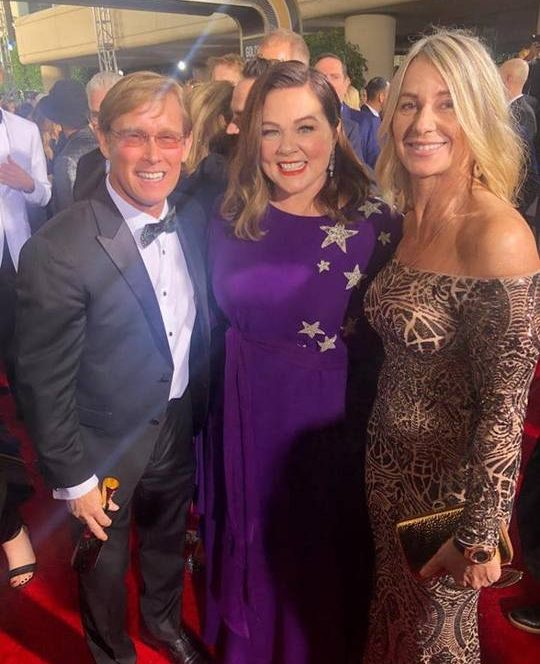 Nadia Comăneci at Golden Globes 2019 with famous actors