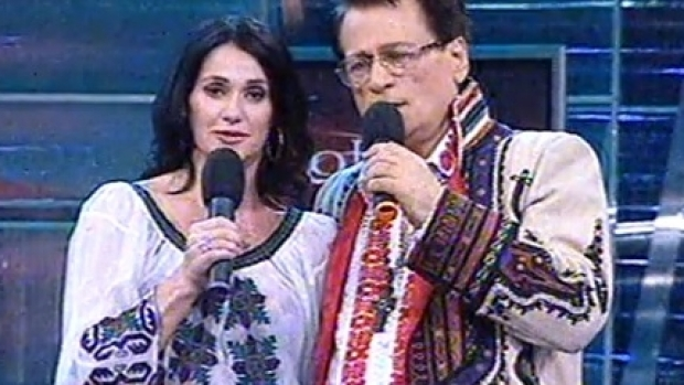 Ion Dolănescu, într-o emisiune cu Nadia Comăneci.