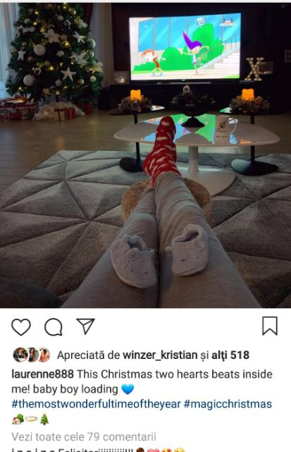 Postarea prin care Laura Teodoru şi-a anunţat prietenii virtuali că este din nou însărcinată