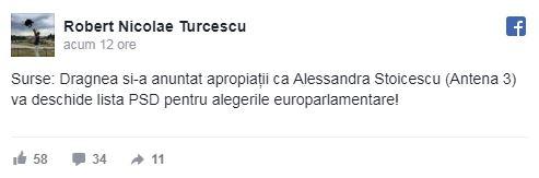 Postarea lui Robert Turcescu