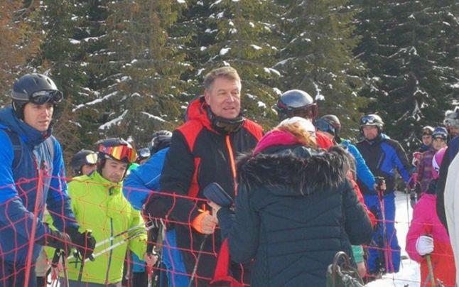 Președintele Klaus Iohannis adoră să schieze