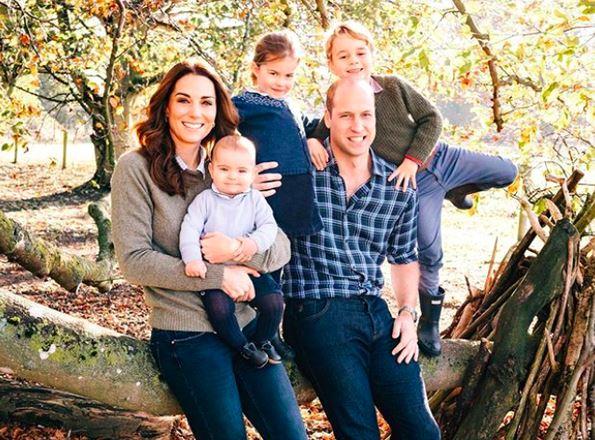 Prințul William și prințesa Kate Middleton, alături de cei 3 copii