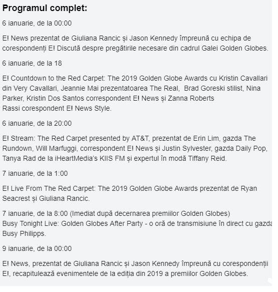 Globurile de Aur 2019 LIVE. Surpriză! Lista nominalizărilor
