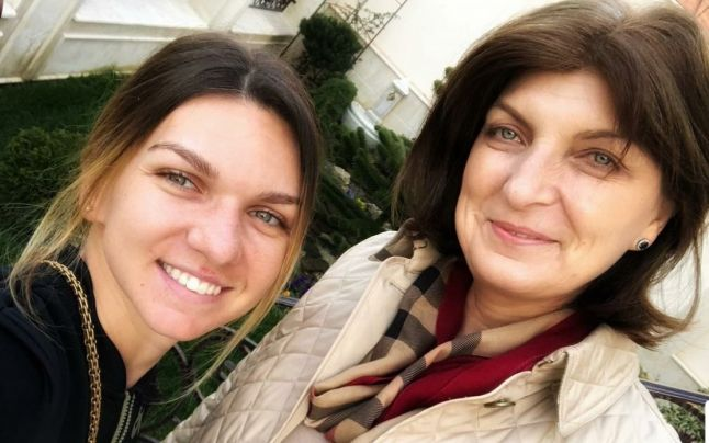 Simona Halep alături de mama sa, Tania