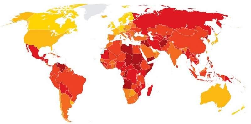 Topul celor mai corupte țări