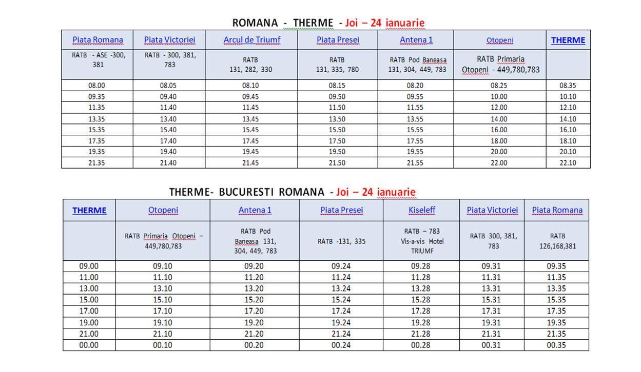 Program autobuz Therme București