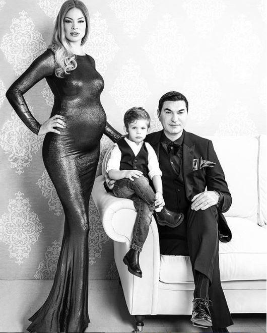 Valentina Pelinel, Cristian Borcea și Milan, fiul lor