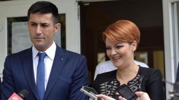 Lia Olguța Vasilescu și viitorul soț, Claudiu Manda