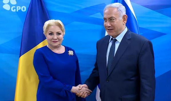 Viorica Dăncilă, alături de premierul israelian Benjamin Netanyahu