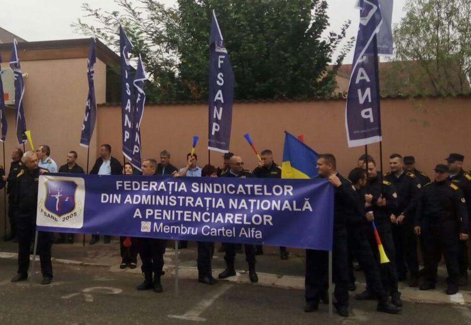 Angajații de la penitenciare protestează!