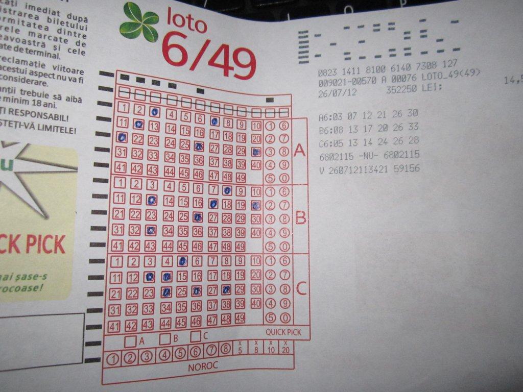 Cât este premiul la 6 din 49 pus în joc de loteria națională pentru duminică, 3 februarie