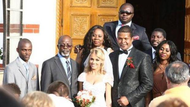 Tatăl lui Cabral alături de acesta la nunta sa cu Andreea