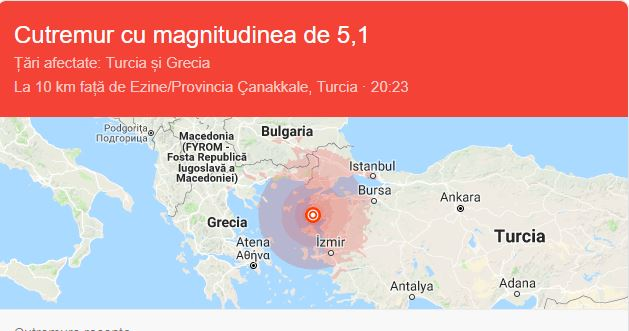 Cutremur de proporții în Turcia! Autoritățile sunt alertă! Ce magnitudine a avut