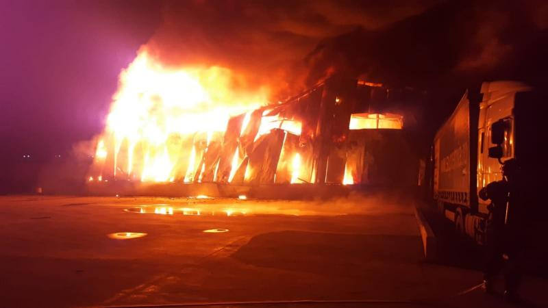 Incendiu la fabrica de ingrediente din Alba Iulia
