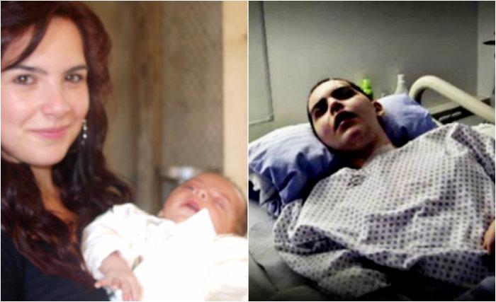 Ioana Condea alături de băiețelul ei