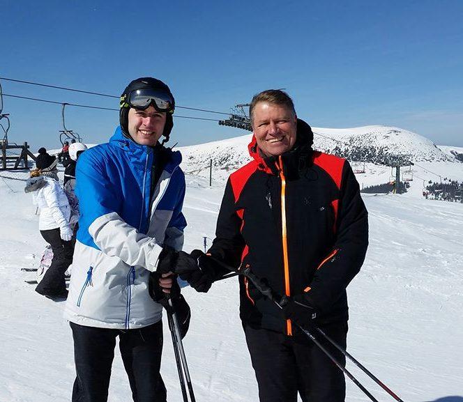 Klaus Iohannis la schi