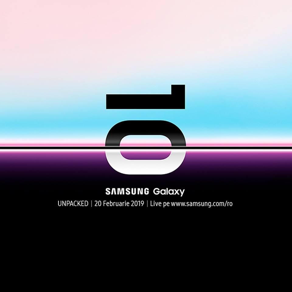 Live Stream evenimentul Samsung. Vezi online totul despre Samsung Galaxy S 10