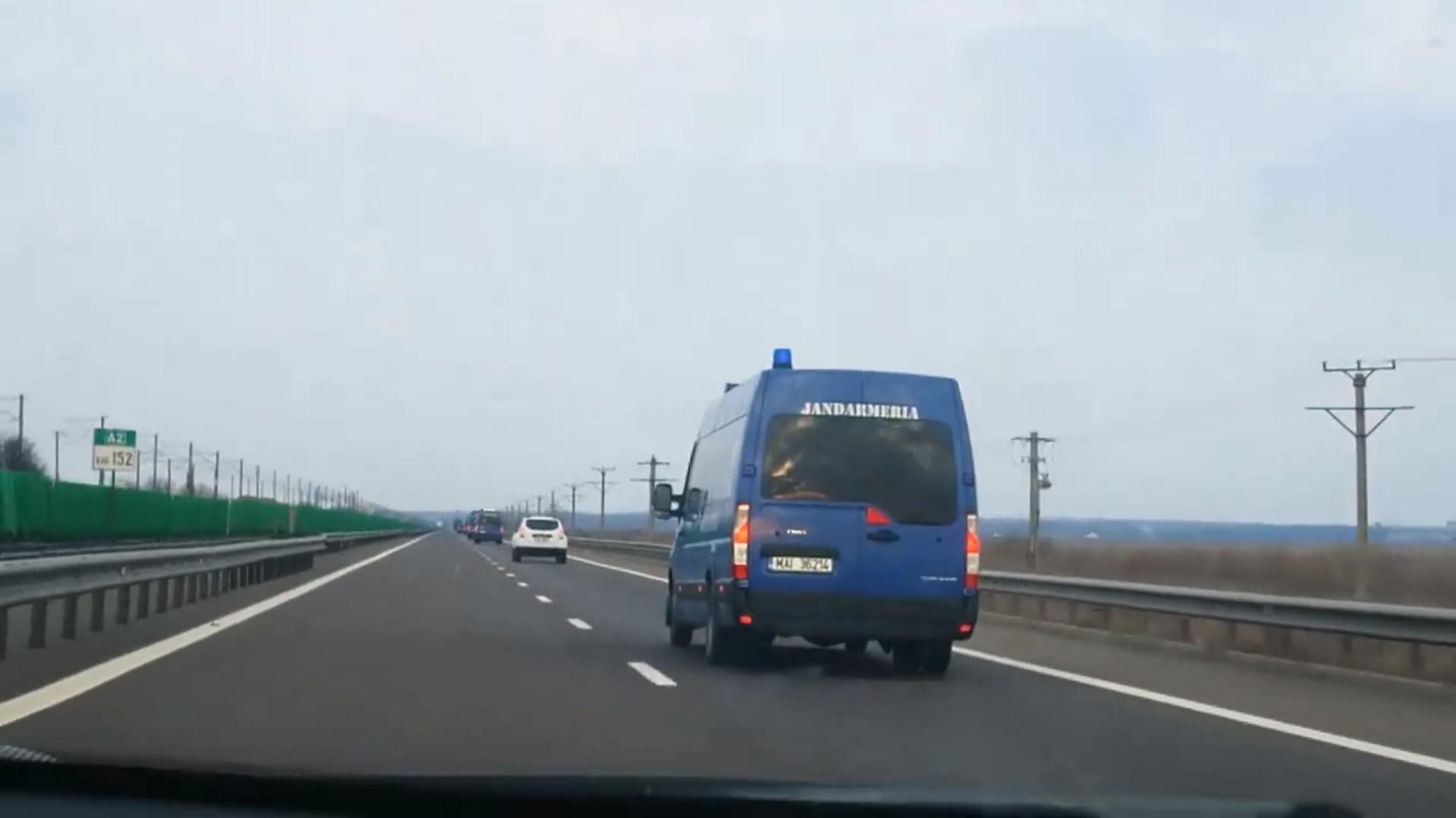 Mașini MAI din teritoriu vin spre București