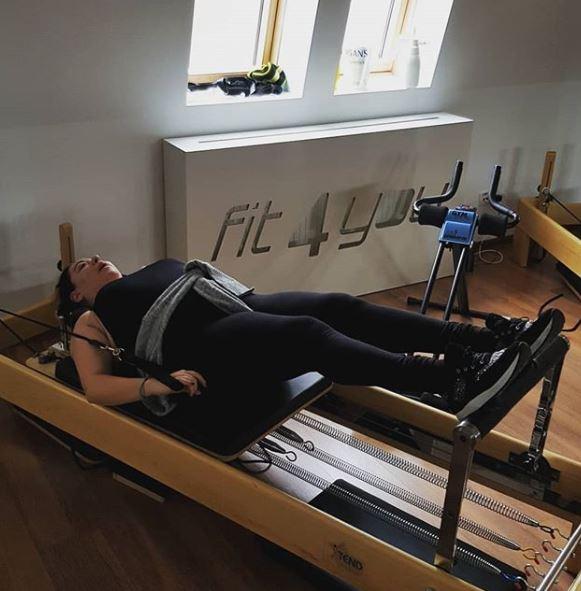 Oana Roman la sala de fitness