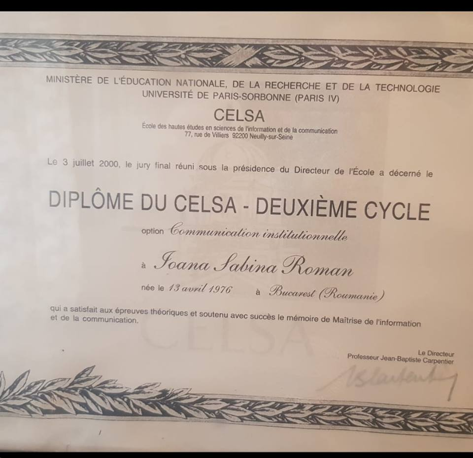 Diplome Oana Roman