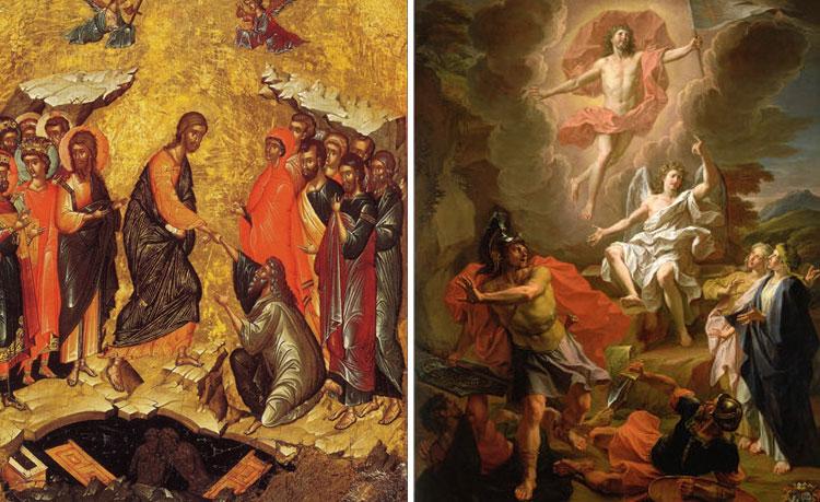 Diferență între datele Paștelui, diferență între icoanele ortodoxe și cele catolice. Cele catolice sunt mai realiste