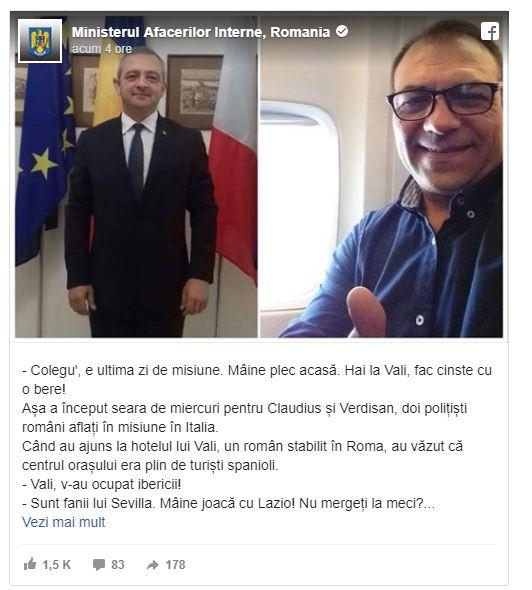 Doi polițiști români, eroi în Italia! Au apărut în presă, după ce au salvat mai mulți turiști