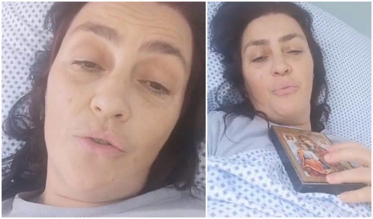 Rona Hartner, diagnosticata cu tumora pe colon: Rugati-va pentru mine! Imagini de pe patul de spital