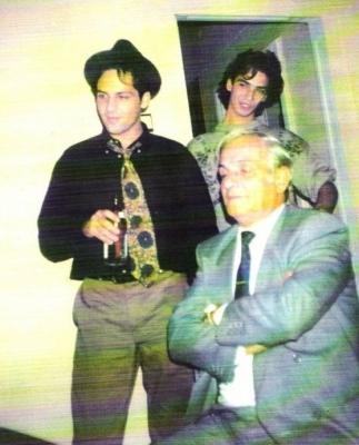 Ștefan Bănică Jr, fratele lui și tatăl lor, Ștefan Bănică Senior