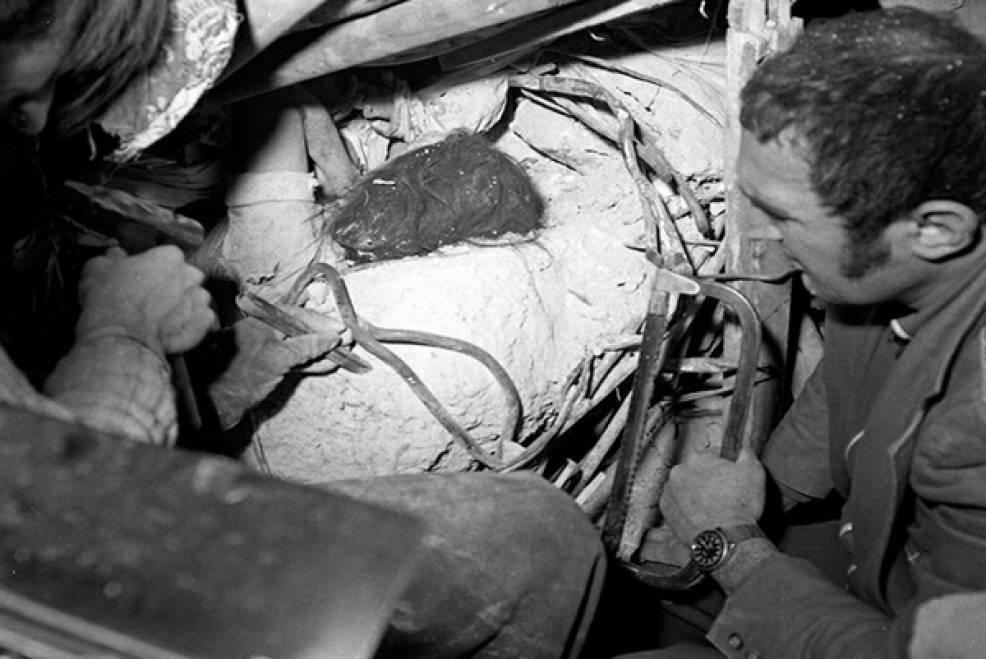 Imagini cumplite au rămas mărturii ale cutremurului devastator din seara zilei de 4 martie 1977, soldat cu 1.578 de morți