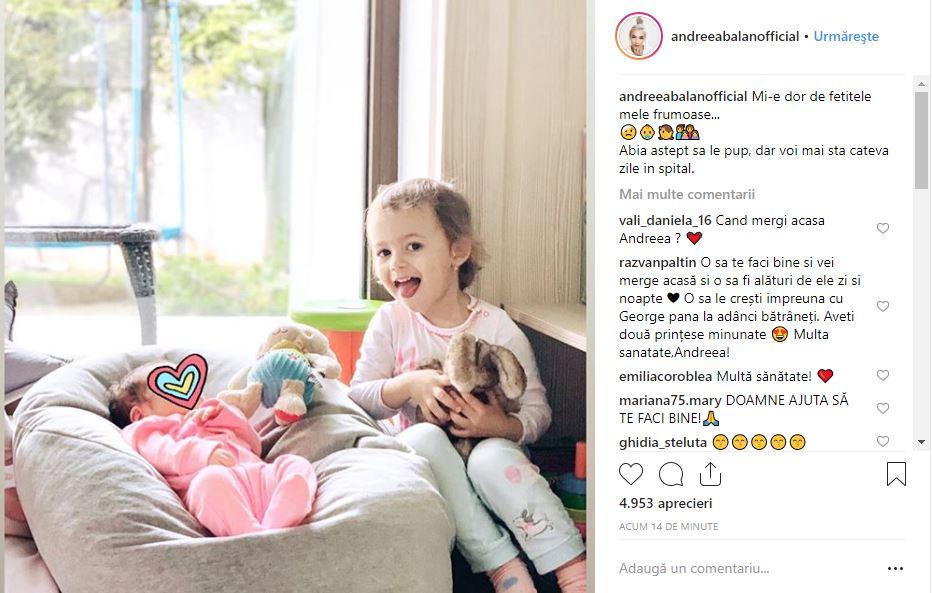 Andreea Bălan trăiește o adevărată dramă! Mesaj sfâșietor despre fetițele ei
