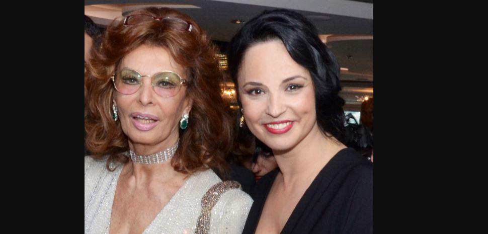 Andreea Marin alături de Sophia Loren