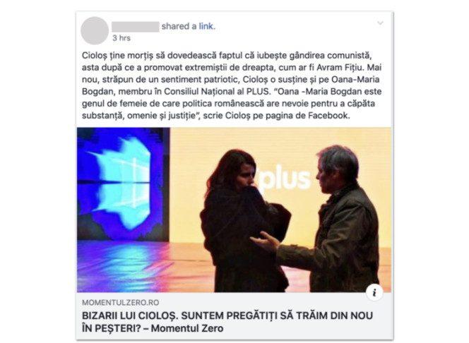 Facebook manipulare PSD